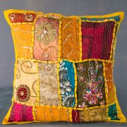 Indian cushion cover Patchwork yellow L40