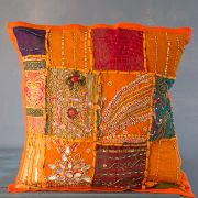 Indian cushion cover Patchwork orange L40