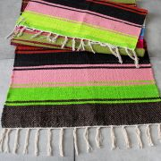Indian carpet handcraft Dari pink and green