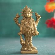 Indian hindu god Vishnu brass statue