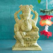 Indian hindu god Ganesh marble statue