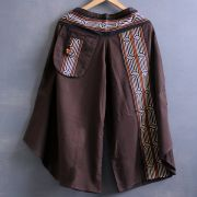 Ethnic cotton pants 3/4 brown color