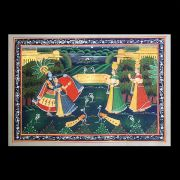 Indian miniature painting Krishna