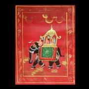 Indian miniature painting Ride red