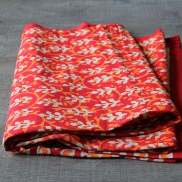 Indian printed tablecloth Dabu red