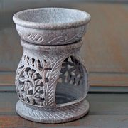 Indian soapstone essential oil burner Small