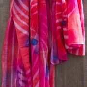 Indian tied and dyed cotton scarf pink color