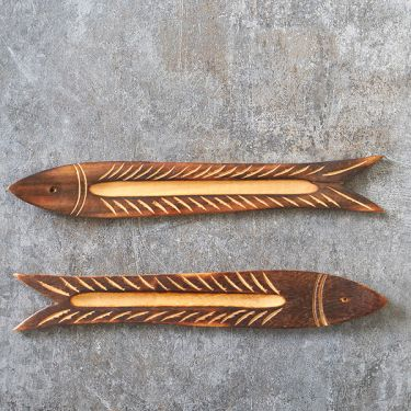 Incense stick wooden stand Fish