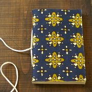 Indian handicraft coton diary blue and green