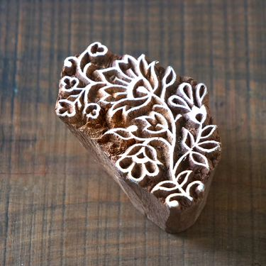 Indian wooden printing block Tradition
