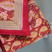 Indian printed bedsheet + pillow Maroon and pink