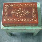 Indian wooden handicraft jewellery box