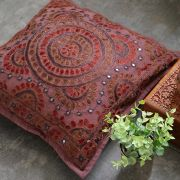 Indian cushion cover embroidered purple L40