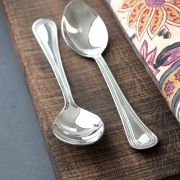 Indian spoons x2 stainless steel Juhi