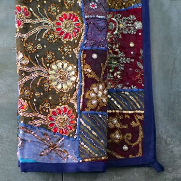 Indian wall hanging Patchwork navy blue