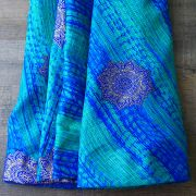 Indian skirt Jaipuri long skirt green and blue