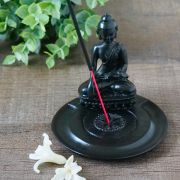 Incense stick stand Black Buddha