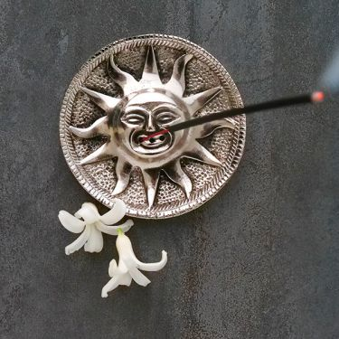 Incense stick stand metal Antic sun