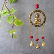 Indian handicraft brass wind chime Buddha