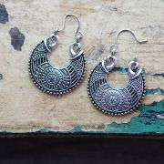 Indian earrings ethnic jewel round design