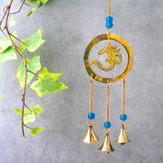 Indian handicraft brass wind chime OM