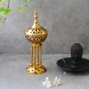 Traditional Indian copper incense burner Tower