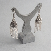 Indian earrings Jhumka cascade
