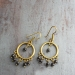 Indian traditional earrings gold and black colors
