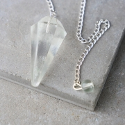 Conic 6 faces pendulum with rock crystal stone