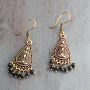Indian ethnic earrings gold and black colors