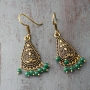 Indian ethnic earrings gold and green colors