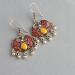 Indian earrings flower yellow and orange colors