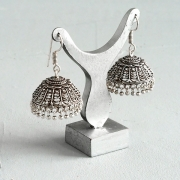 Indian handicraft metal earrings Jhumka tradition