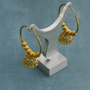 Indian earrings golden Jhumki jewel