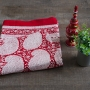 Indian printed cotton table cover red color