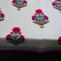 Indian handicraft printed table cover red color