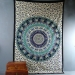 Indian cotton wall hanging Mandala black and blue