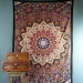 Indian cotton wall hanging Mandala black and yellow