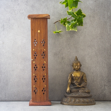 Incense sticks burner Agarbatti wooden tower