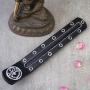 Incense stick resin stand OM silver and black