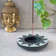 Indian Incense stick stone stand Sun