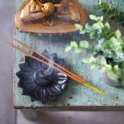 Indian Incense stick stone stand Lotus