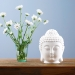 White ceramic Buddha essential oil burner