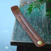 Indian Incense stick wooden stand Moon