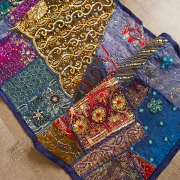 Indian wall hanging Patchwork dark blue