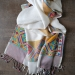 Indian mixed cotton scarf white color
