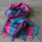 Indian mix cotton scarf pink and blue