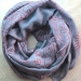 Indian stole printed cotton OM and Shiva grey