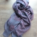 Indian stole printed cotton OM grey