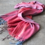Indian cotton scarf with stripes red and blue